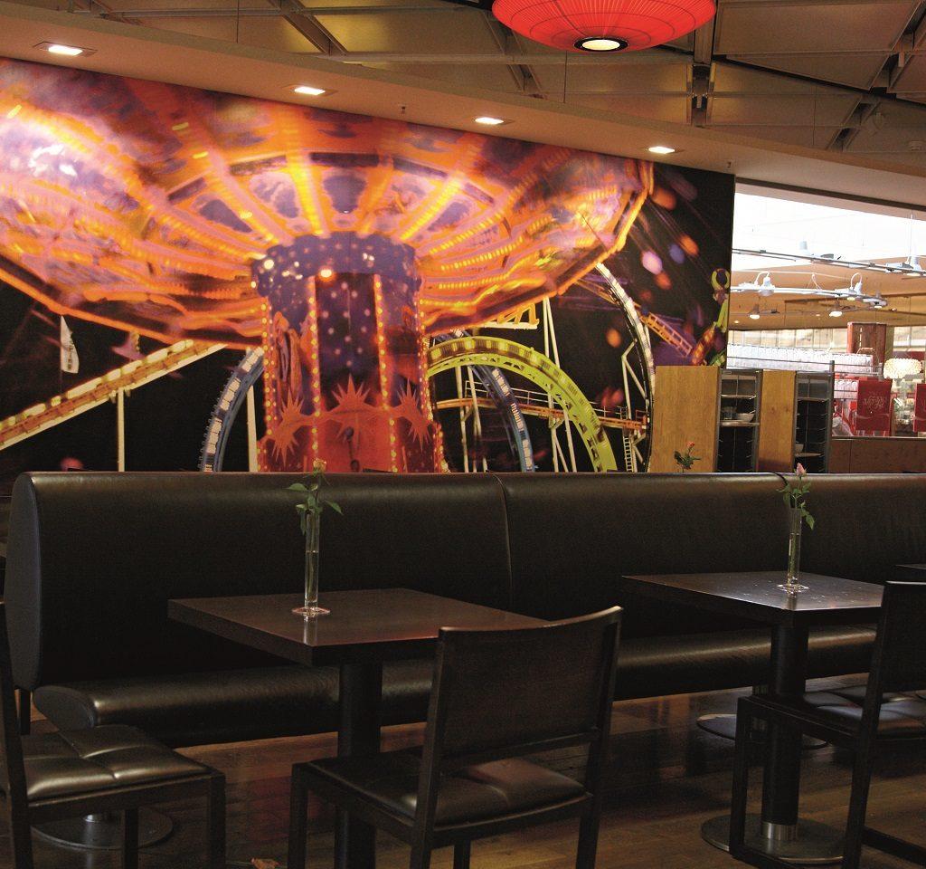 fotobehang voor café of restaurant