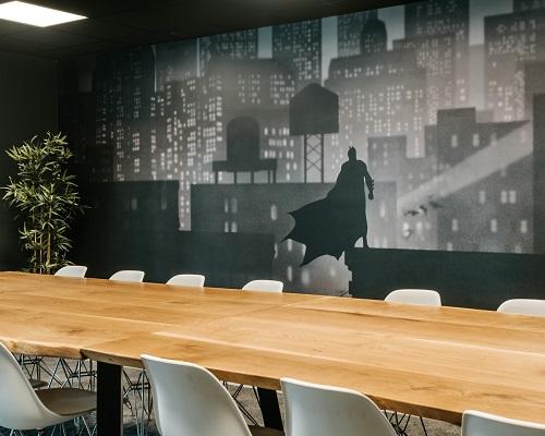 Fotobehang voor kantoor vergaderruimte