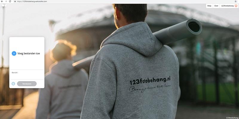 upload je eigen foto voor fotobehang - 123fotobehang wetransfer
