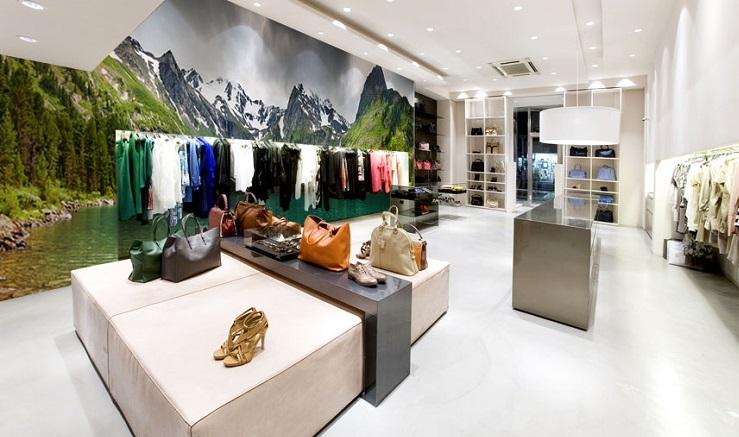Fotobehang groot formaat fotobehang xxl montage winkel retail store