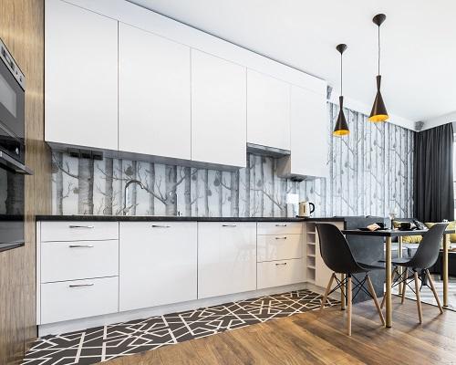 fotobehang keuken bos met bomen voor rust