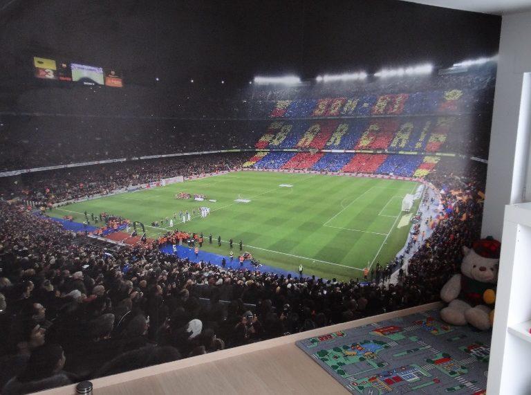 Barcelona voetbalstadion fotobehang slaapkamer