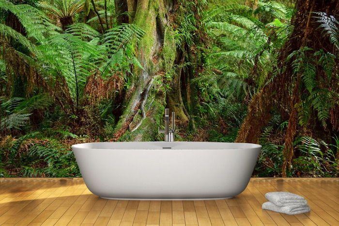 fotobehang jungle in je badkamer