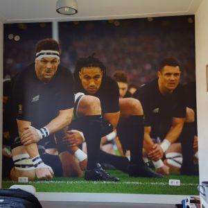 fotobehang kinderkamer rugby team nieuw zeeland