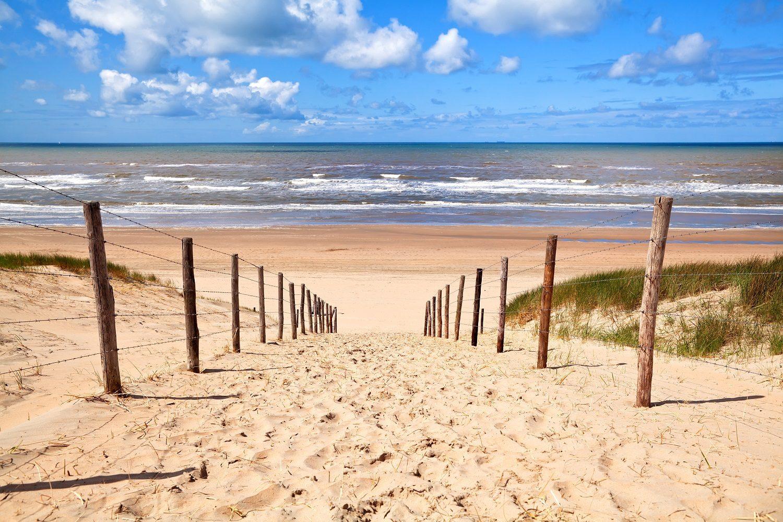 fotobehang strand Noordzee