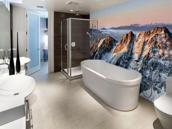 luxe fotobehang badkamer