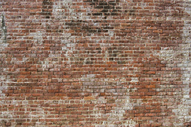 stenen muur rode bakstenen fotobehang
