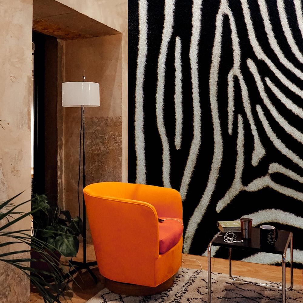 zebra interieur inspiratie behang