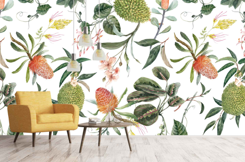 You are Enough - Botanical - Cara Saven Wall Design - interior