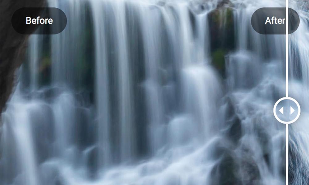 eigen foto waterval laten otimaliseren voor fotobehang oud