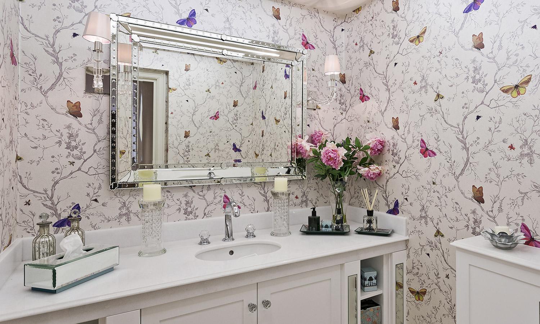 fotobehang badkamer lichtinval en kleurkeuze