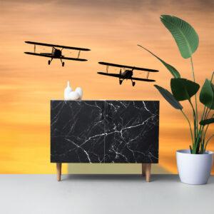 vliegtuigen dressoir interieur fotobehang