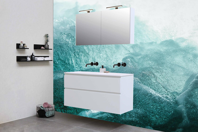 badkamer water muur wastafel