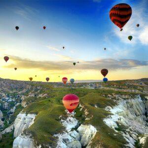 luchtballonnen indrukwekkend landschap view