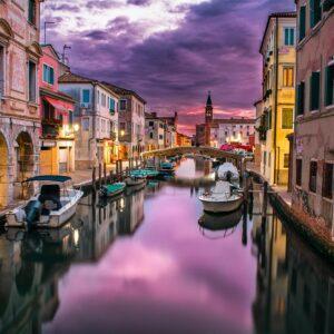 Kleurrijk Venetië windstil