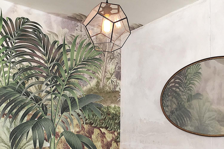 botanisch carasaven bladeren schilderij