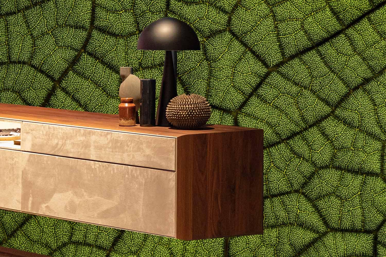 botanisch inspiratie bladnerven textuur