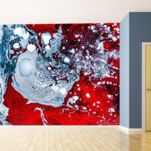 kamer inrichting rood behang