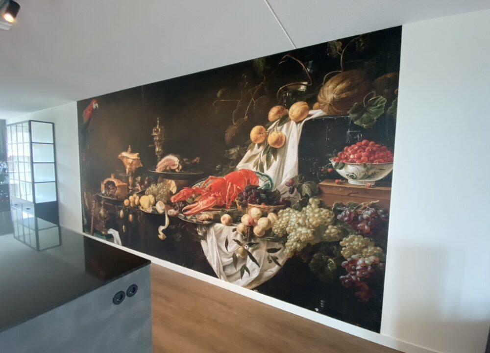Akoesisch fotobehang project geïnstalleerd bij klant