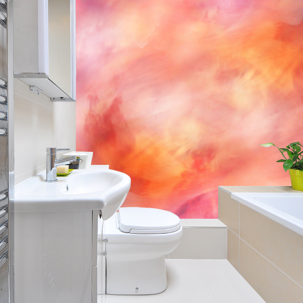 badkamer aquarel inspiratie behang