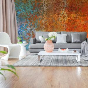 behang inspiratie modern interieur roest