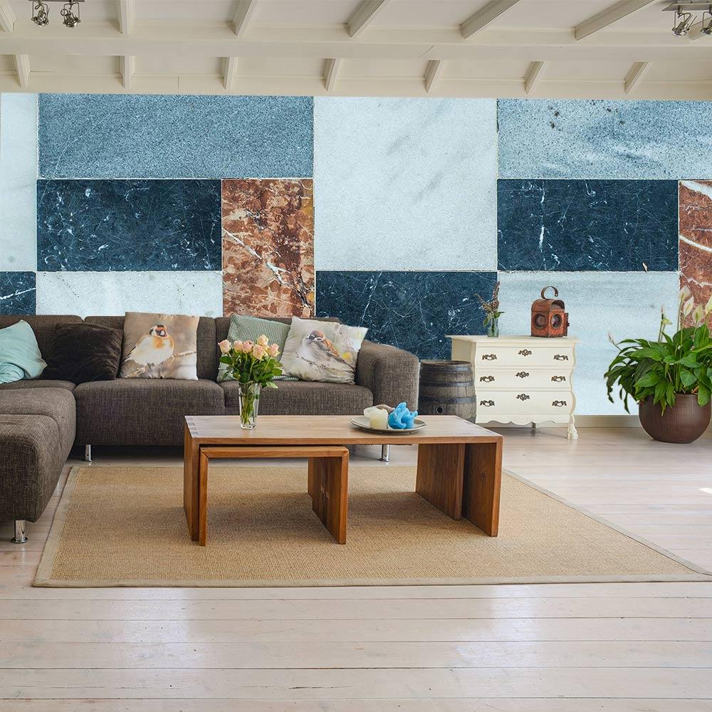 interieur inspiratie tegel patroon behang