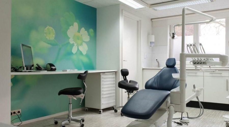 fotobehang oplossing voor tandartspraktijk